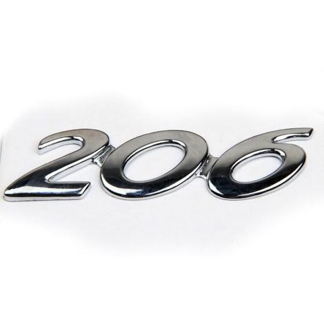 PLASTIČNI NATPIS PEUGEOT 206 ZADNJI