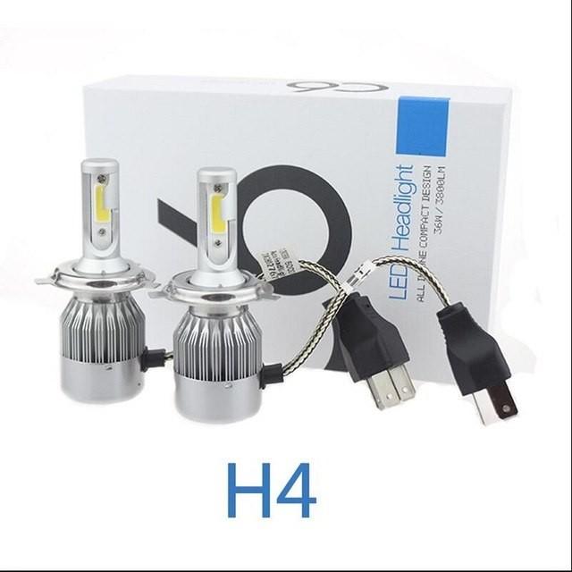 SIJALICE CREE LED C6+ 12V H4 6000K grade A DUGO+KRATKO