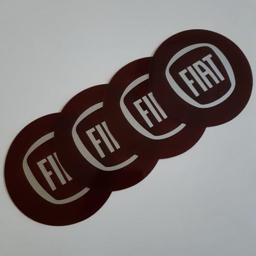 STIKERI ZA RATKAPE FIAT crveni FI76mm(set 4 komada)