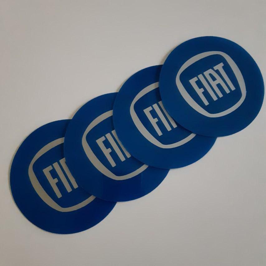 STIKERI ZA RATKAPE FIAT plavi FI76mm(set 4 komada)