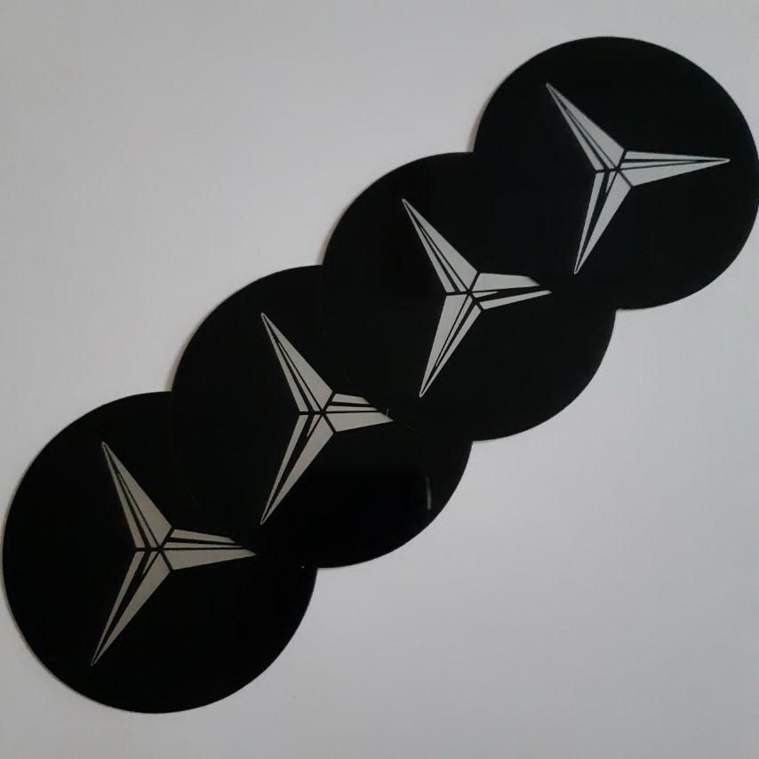 STIKERI ZA RATKAPE MERCEDES FI76mm(set 4 komada)