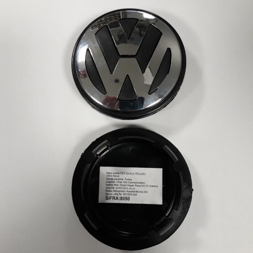 ČEP ZA ALUMINIJUMSKU FELUGU FI59-65mm VW