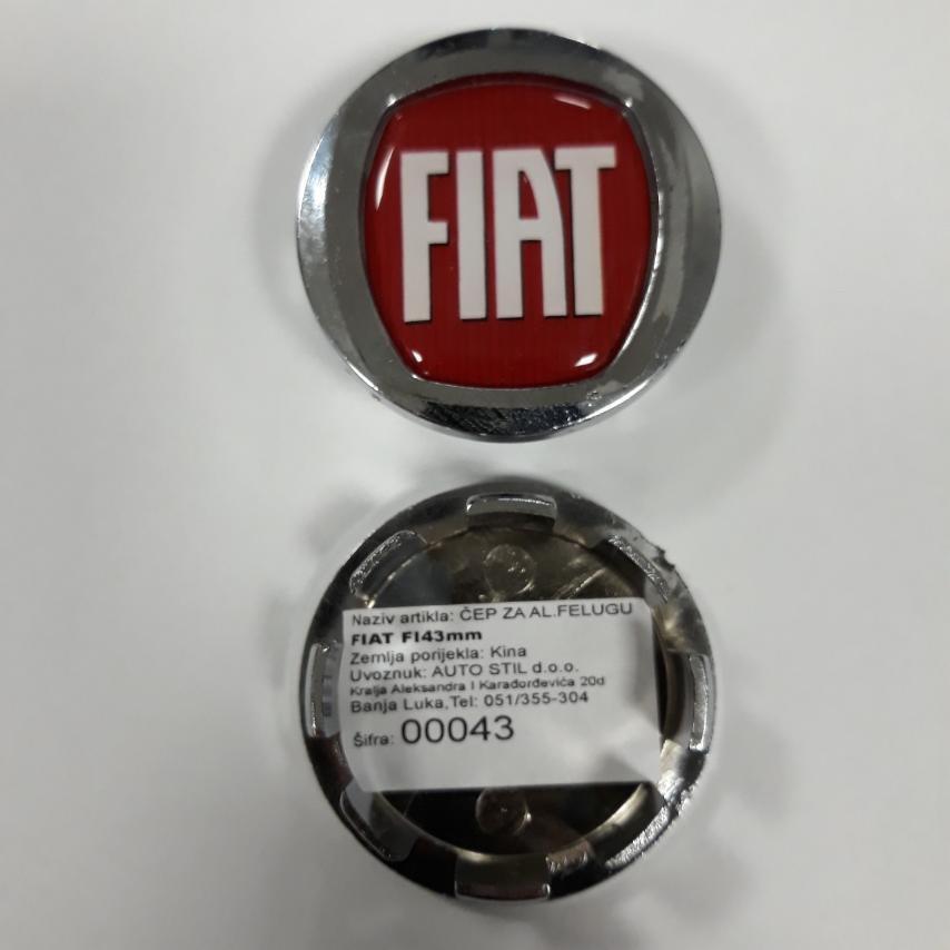 ČEP ZA AL.FELUGU FIAT FI43mm