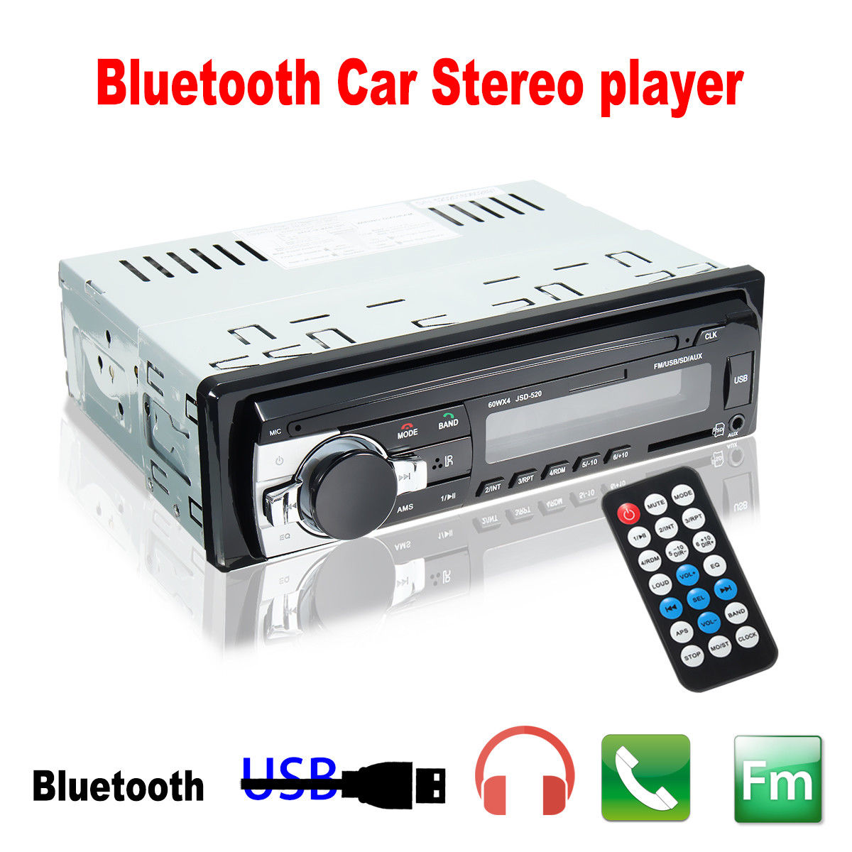 RADIO ZA AUTO-USB,SD,BLUETOOTH